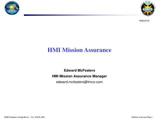 HMI Mission Assurance