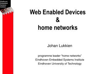Web Enabled Devices & home networks