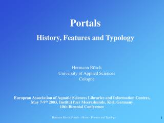 Portals History, Features and Typology
