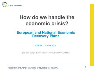 How do we handle the economic crisis?