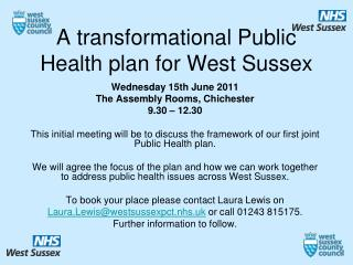 A transformational Public Health plan for West Sussex