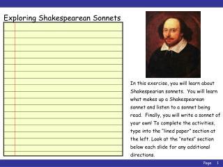Exploring Shakespearean Sonnets