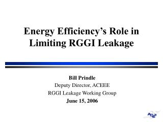 Energy Efficiency's Role in Limiting RGGI Leakage