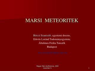 MARSI  METEORITEK