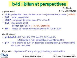 b-id : bilan et perspectives