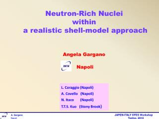 Neutron-Rich Nuclei  within   a realistic shell-model approach Angela Gargano Napoli