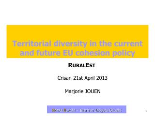 Territorial diversity in the current and future EU cohesion policy
