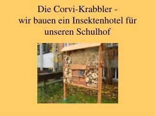 Die Corvi-Krabbler -  wir bauen ein Insektenhotel für unseren Schulhof