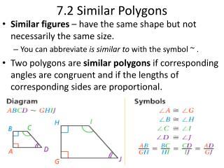 7.2 Similar Polygons