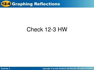 Check 12-3 HW