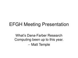 EFGH Meeting Presentation