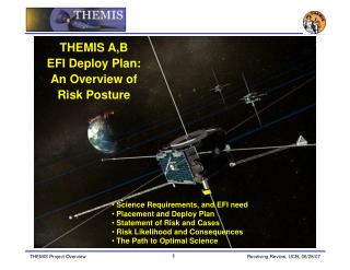 THEMIS A,B EFI Deploy Plan: An Overview of Risk Posture