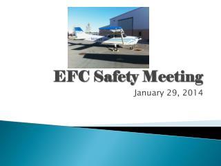 EFC Safety Meeting
