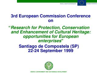 3rd European Commission Conference on