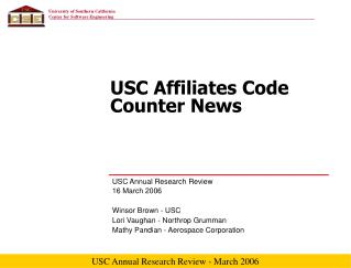 USC Affiliates Code Counter News