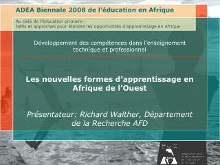 Développement des compétences dans l'enseignement technique et professionnel