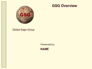 GSG Overview