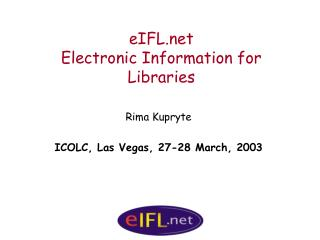 eIFL Electronic Information for Libraries