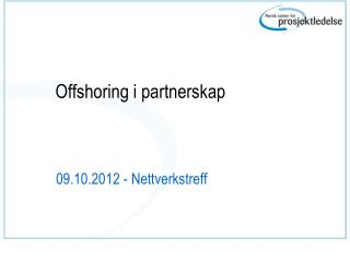 Offshoring i partnerskap