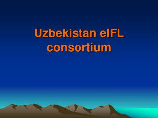 Uzbekistan eIFL consortium