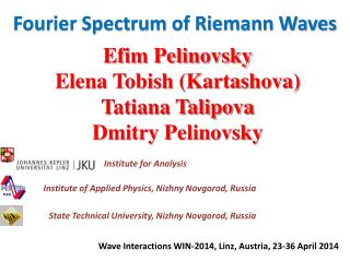 Fourier Spectrum of Riemann Waves