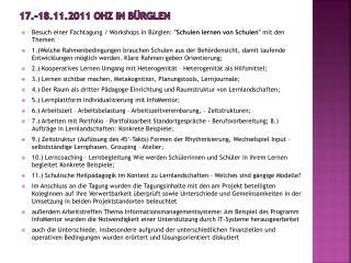 17.-18.11.2011 OHZ in  B�rglen
