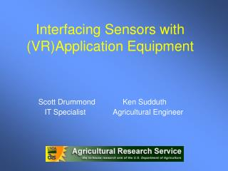 Interfacing Sensors with (VR)Application Equipment