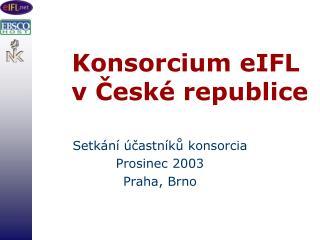 Konsorcium eIFL   v České republice