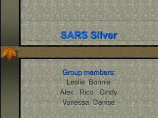 SARS Silver Group members: Leslie Bonnie