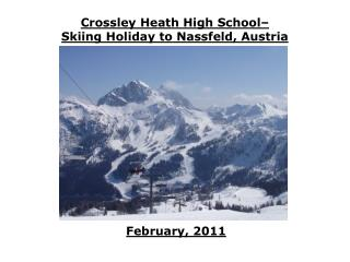 Crossley Heath High School–  Skiing Holiday to Nassfeld, Austria