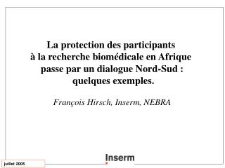 La protection des participants  à la recherche biomédicale en Afrique