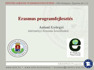 Erasmus programfejlesztés