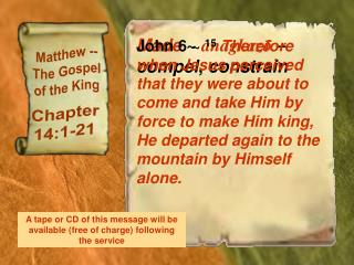 Matthew -- The Gospel of the King
