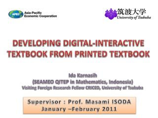 DEVELOPING DIGITAL-INTERACTIVE  TEXTBOOK FROM PRINTED TEXTBOOK
