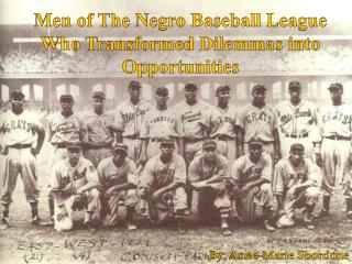 Negro All Star Team – 1939