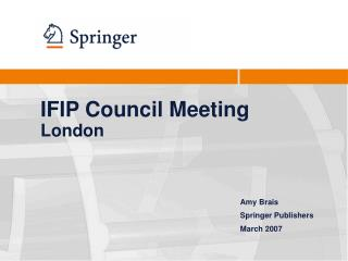 IFIP Council Meeting London