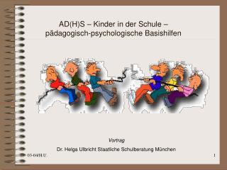 AD(H)S – Kinder in der Schule – pädagogisch-psychologische Basishilfen
