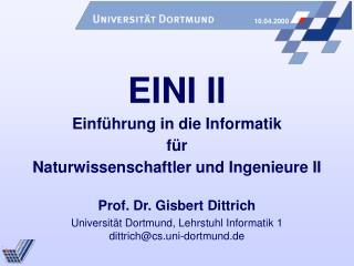 Ziele von EINI I + II