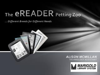 The eREADER Petting Zoo
