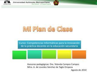 Mi Plan de Clase