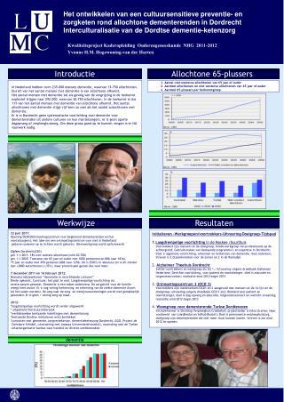 Kwaliteitsproject Kaderopleiding  Ouderengeneeskunde  NHG  2011-2012