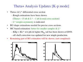 Theta+ Analysis Updates [K-p mode]
