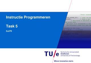 Instructie Programmeren Task 5