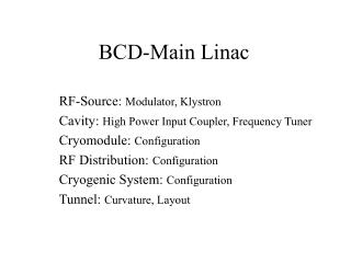 BCD-Main Linac
