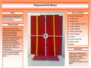 Trigonometrik  Blazer