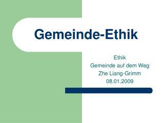 Gemeinde-Ethik