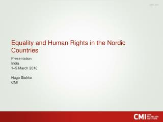 Equality and Human Rights in the Nordic Countries