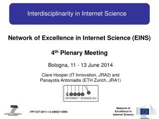 Interdisciplinarity in Internet  Science