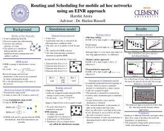 Routing and Scheduling for mobile ad hoc networks  using an EINR approach Harshit Arora