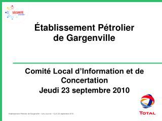 Établissement Pétrolier  de Gargenville